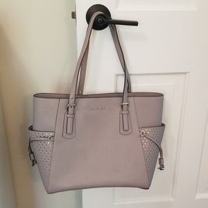 Michael Kors Voyager Signature Leather Tote